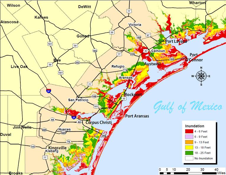 South Texas Storm Surge Zones